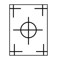 Field icon outline style vector