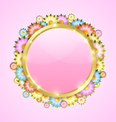 Flower bubble template vector