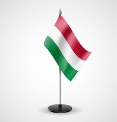 Table flag of hungary vector