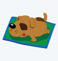 Sleeping dog vector