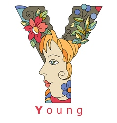 Letter y young vector
