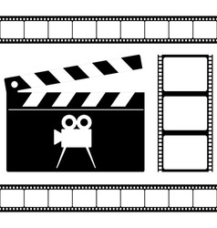 Clapper board and film vector