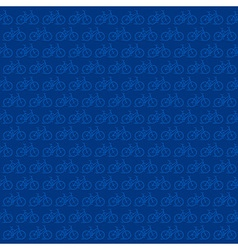 Bicycle pattern in blue background vector