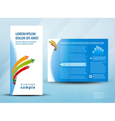 brochure booklet airplane fly vector image