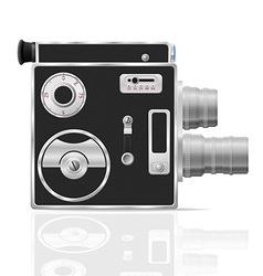 Old retro vintage movie video camera 03 vector