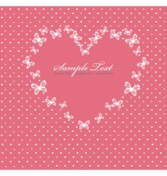 Pink valentines day card with vector