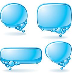 aqua speech bubble set vector image