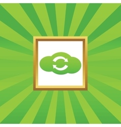 Cloud exchange picture icon vector