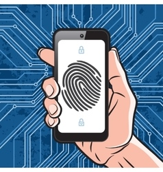 Smartphone fingerprint security vector