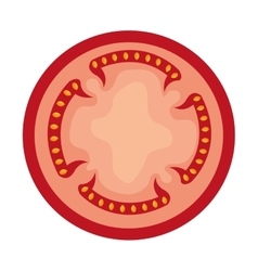 Tomato slice red graphic vector