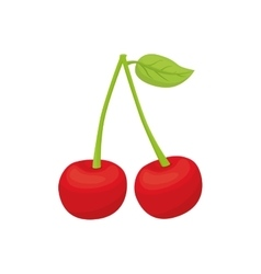 Cherry icon organic and healthy food design vector