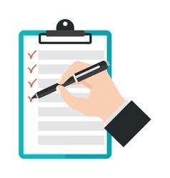 Agenda list icon vector image vector image