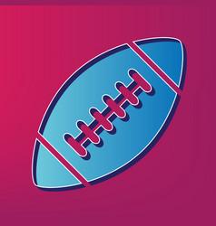 American simple football ball blue 3d vector