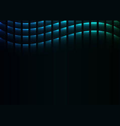 Blue green abstract pixel curve background vector