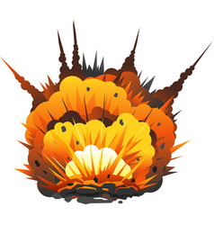 Cartoon bomb explosion vector