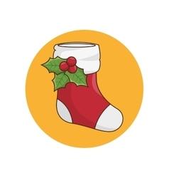 christmas socks decoration kawaii style vector image vector image