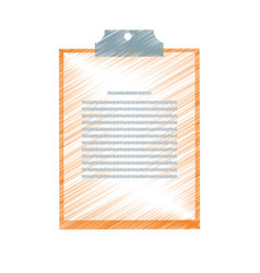 Clipboard and document icon image vector