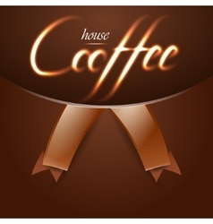 Coffee house trendy background with fire words vector image vector image