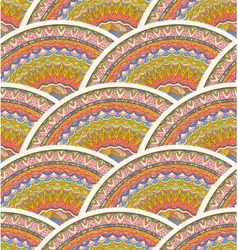 Colorful Seamless Hand-Drawn Pattern Waves vector image vector image