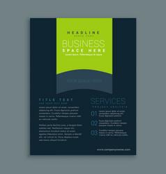 Dark brochure design template design vector