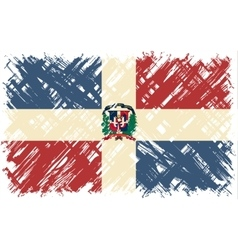 Dominican republic grunge flag vector