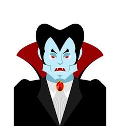 Dracula vampire lord portrait horrible ferocious vector