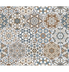 Eastern seamless pattern tiles vector image