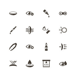 Eye lens - flat icons vector