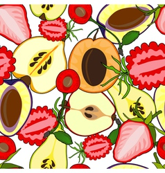 Fruit seamless vector