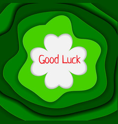 Good luck background vector