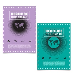 Halftone book cover layout design vector