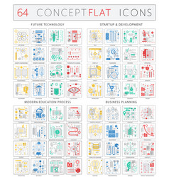Infographics concept icons of future technology vector