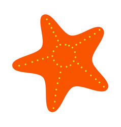 isolated starfish vector image vector image