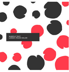 Modern pattern with black and red circles vector