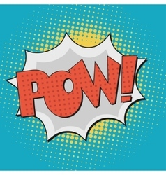 Pow comic book bubble text vector