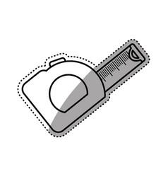 ruler measurement construction tool vector image