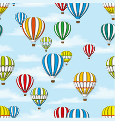 seamless background of some hot air balloons vector image vector image