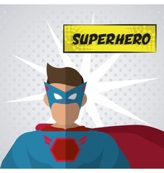 Superhero icon cartoon design graphic vector