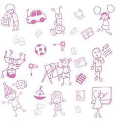Teens doodle art vector