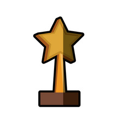 trophy star win image shadow vector image