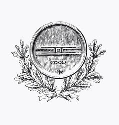 vintage barrel engraving ephemeral vector image