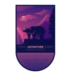Vintage summer adventure outdoor hiking and vector