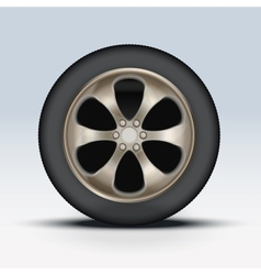 Wheel of car vector