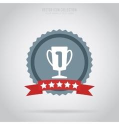 Winner isolated medal label or sticker vector