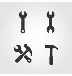 Wrench icons set flat design vector image vector image