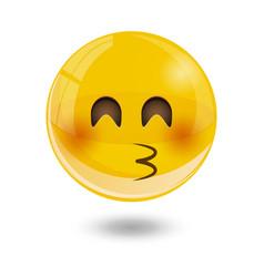 yellow smiley emoticons emoji vector image vector image