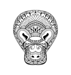 Zentangle platypus head totem for adult anti vector