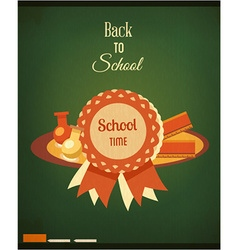 Education with school badge vector