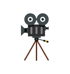 Retro cinema camera icon flat style vector