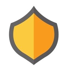 Shield gold vector